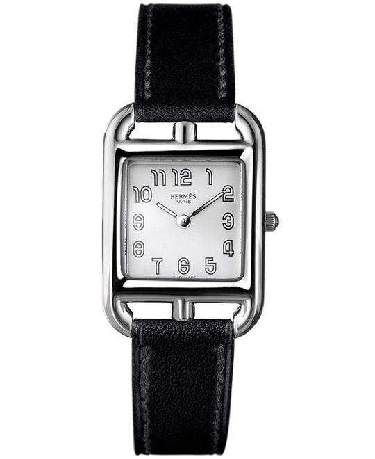Hermes Ladies Stainless Steel Leather 23mm X 23mm