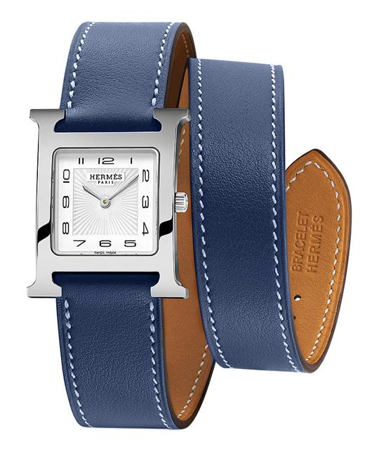 Hermes Ladies  Stainless Steel Leather 26mm X 26mm