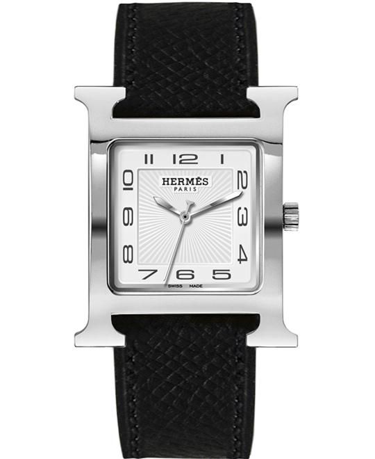 Hermes 036832WW00 H Hour Quartz Large TGM 30.5x30.5mm