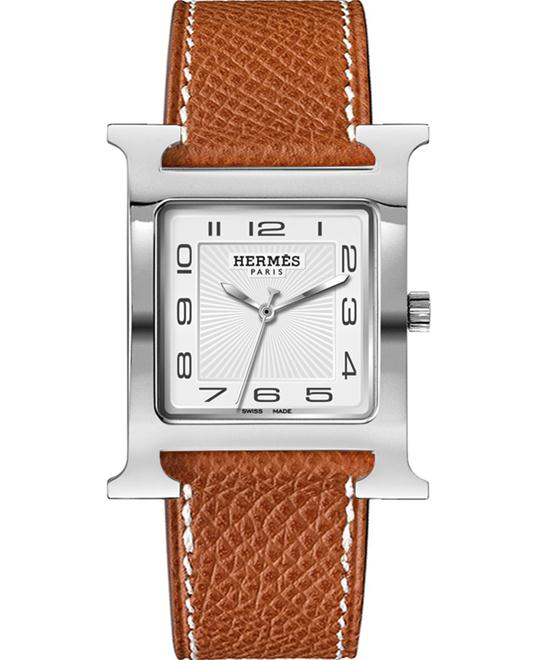 Hermes H Hour Large TGM Midsize Watch 30.5x30.5mm