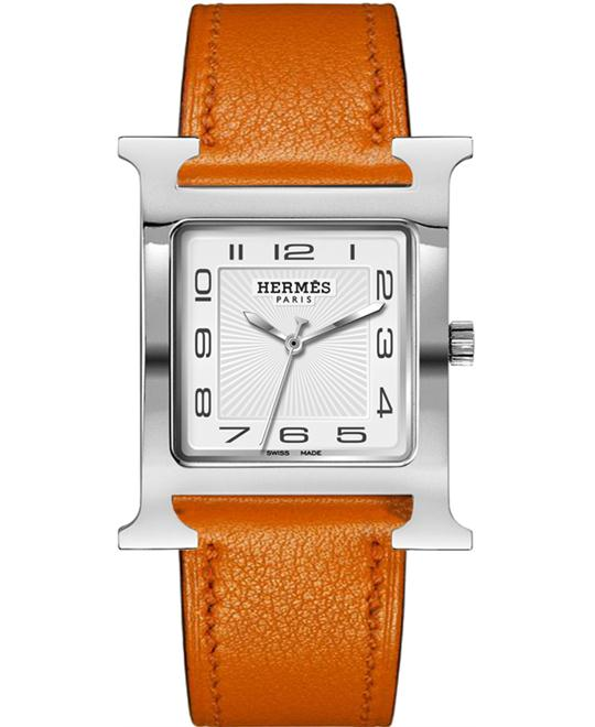 Hermes 036834WW00 H Hour Quartz Large TGM Midsize 30.5X30.5mm