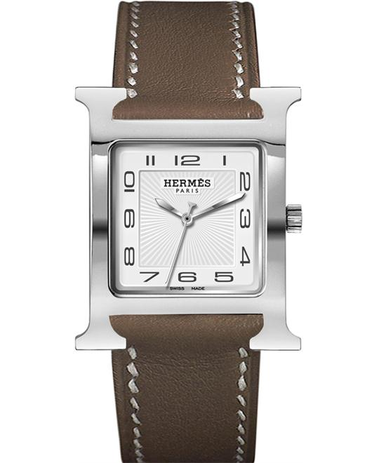 Hermes 036835WW00 H Hour Quartz Large TGM Midsize 30.5X30.5mm