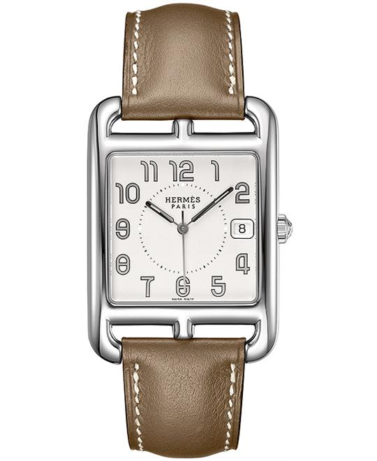 Hermes Midsize Stainless Steel Leather 33mm X 33mm