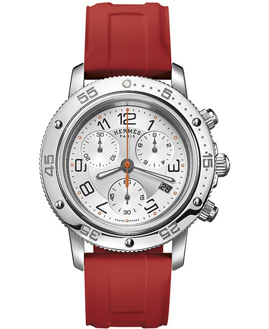 Hermes Clipper Chrono Midsize Watch 36mm