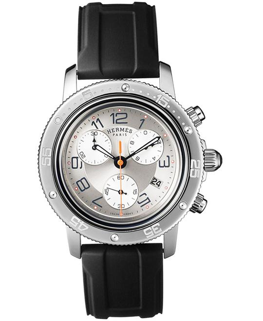 Hermes Clipper Chrono GM Midsize Watch 36mm