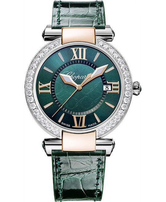 IMPERIALE 18-CARAT GREEN TOURMALINES AND DIAMONDS 36MM