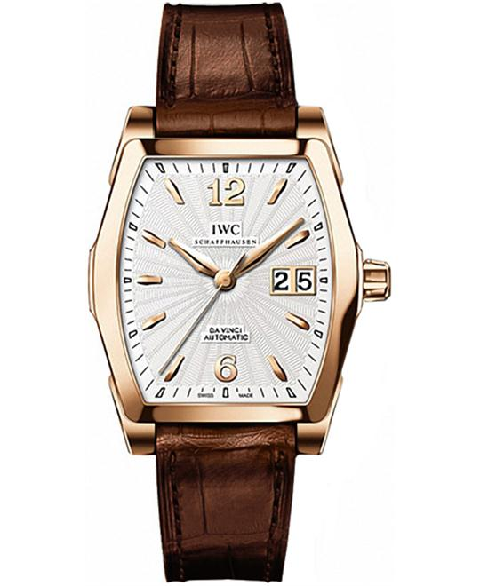 IWC IW452311 Mens 18kt Rose Gold Leather 35.6mm X 42.5mm