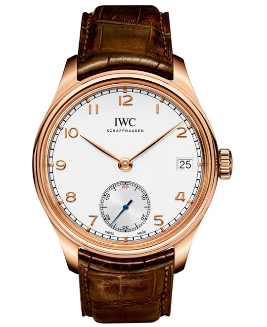 IWC IW510204 Mens 18kt Rose Gold Leather 43mm