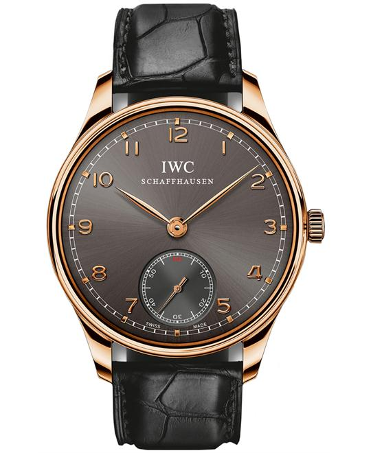 IWC IW545406 Mens 18kt Rose Gold Leather 44mm
