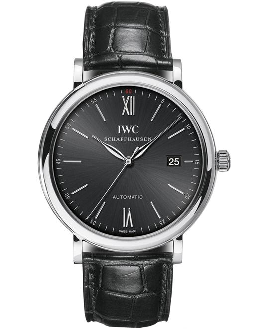 IWC IW356502 Mens Automatic Stainless Steel Leather 40mm
