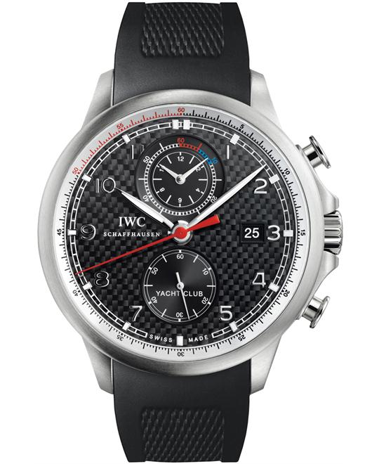 IWC Mens Rubber Sapphire Chronograph 45.4mm