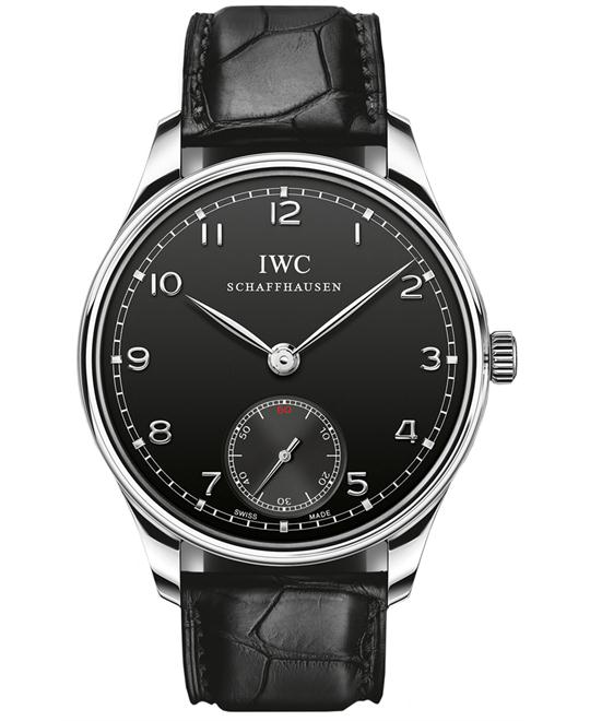 IWC IW545407 Mens Sapphire Stainless Steel Leather 44mm