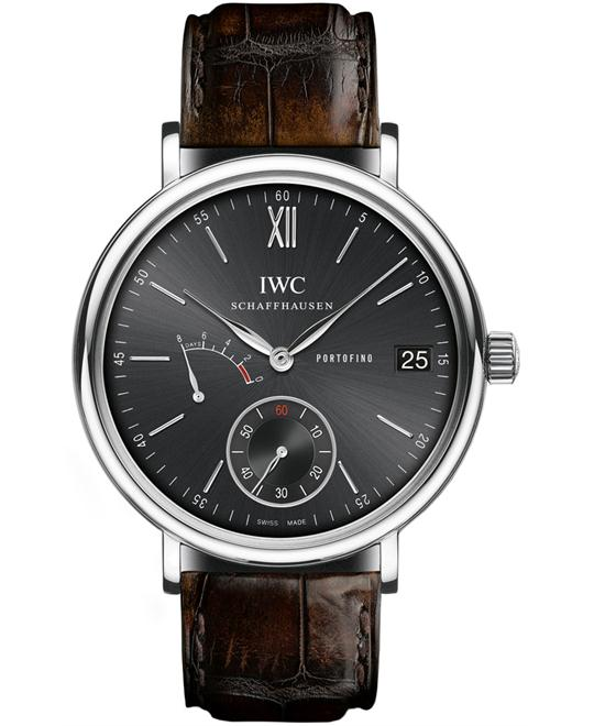 IWC Mens Sapphire Stainless Steel Leather 45mm
