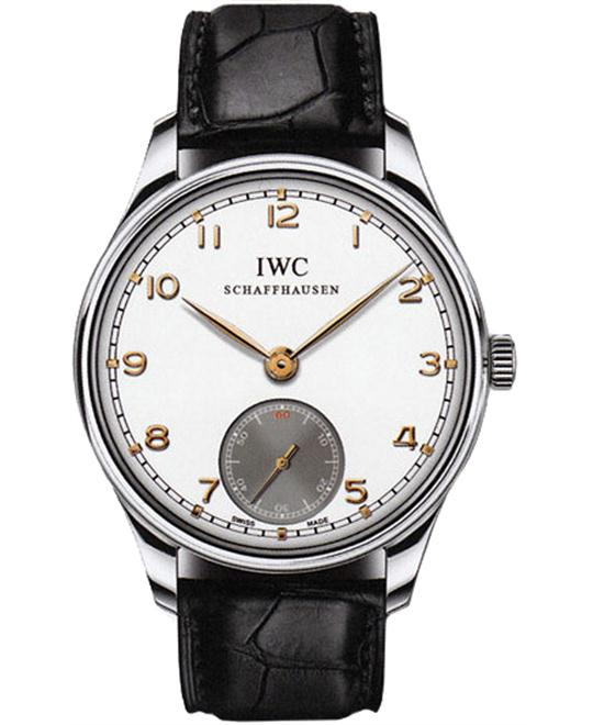 IWC Mens Stainless Steel Leather Sapphire 44mm