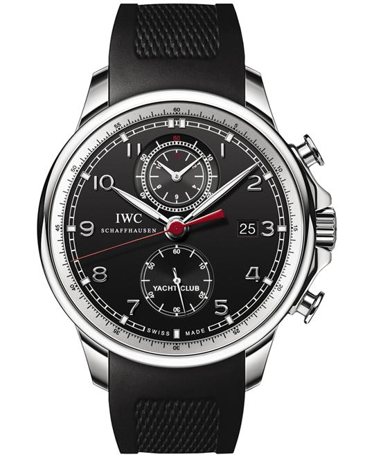 IWC Mens Stainless Steel Rubber Sapphire 45.4mm