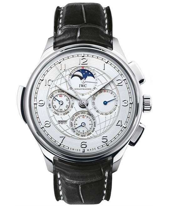 IWC Portuguese Mens Platinum Leather 45mm