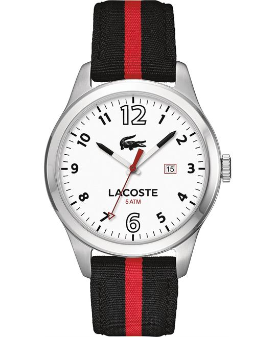 Lacoste Men's Auckland Black and Red Watch 44mm