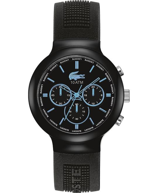 Lacoste Men's Chronograph - Black Silicone 44mm