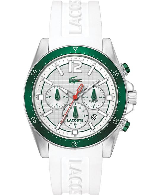 Lacoste Men's Chronograph - White Silicone, 44mm