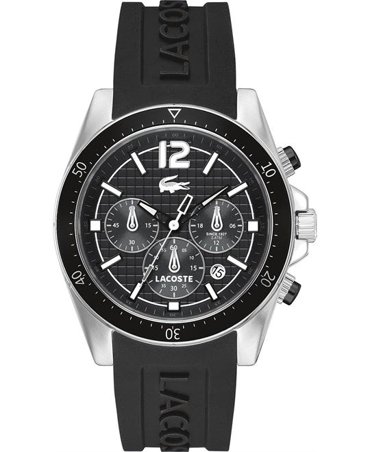 Lacoste Men's Chronograph-Black Silicone 44mm