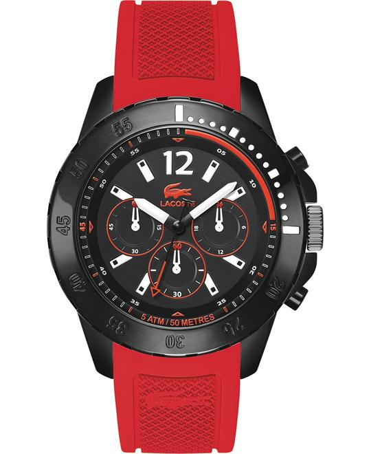 Lacoste Men's Chronograph Fidji Red Silicone, 46mm