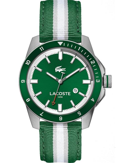 Lacoste Durban Green Striped Woven Watch 44mm