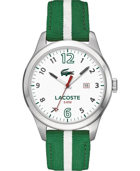 Lacoste Men's Green and White Nylon Watch 44mm