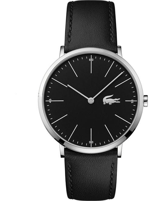 Lacoste Moon Black Leather Men's Watch 40mm