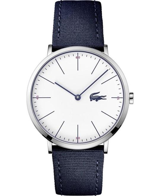 LACOSTE MOON ULTRA SLIM BLUE TEXTILE STRAP 40mm