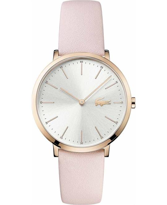 Lacoste Moon Women Pink leaher strap watch 35mm