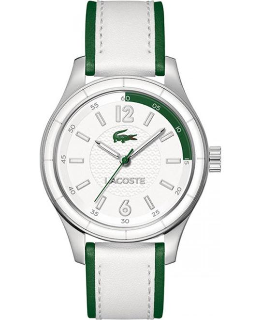 Lacoste Sydney Leather White/Green Watch 38mm