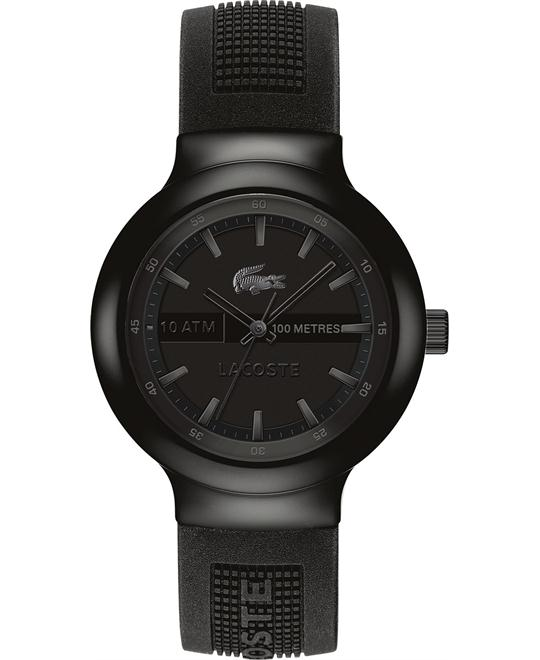 Lacoste Watch, Men's Black Silicone 44mm