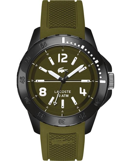 Lacoste Watch, Men's Fidji Olive Silicone 46mm