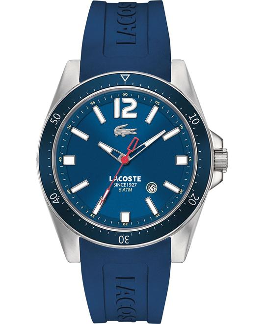 Lacoste Watch, Men's Seattle Blue Silicone, 43mm