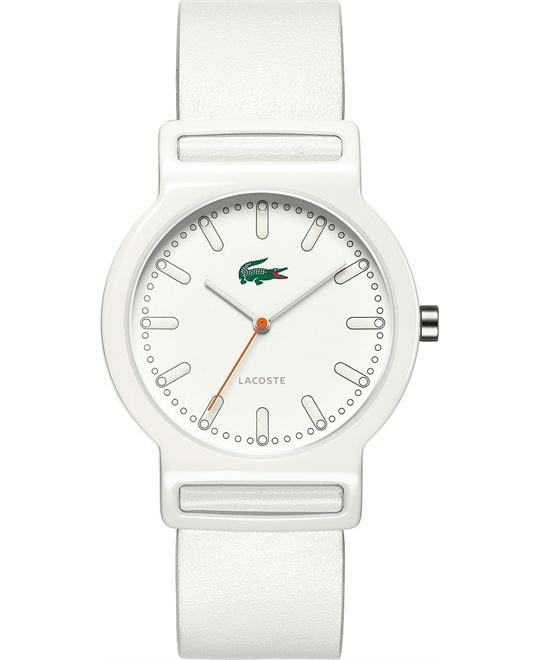 Lacoste Watch, Tokyo White Leather Strap 39mm