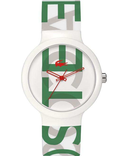 Lacoste Watch, Unisex Printed -White Silicone 40mm