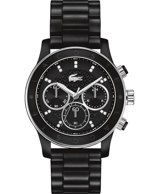 Lacoste Watch, Women's Chronograph Charlotte Black, 40mm