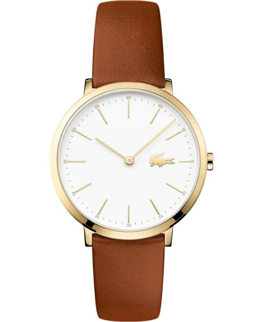 Lacoste Women's Moon Brown Leather Strap Watch 35mm