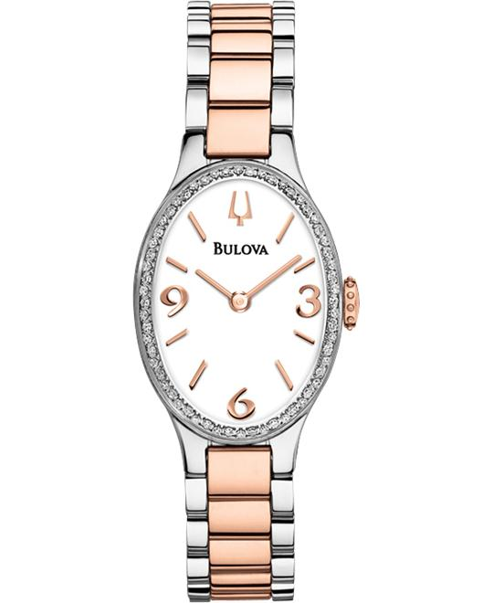 Bulova Ladies' Diamond Gallery collection, 21.3 x 34.6 mm