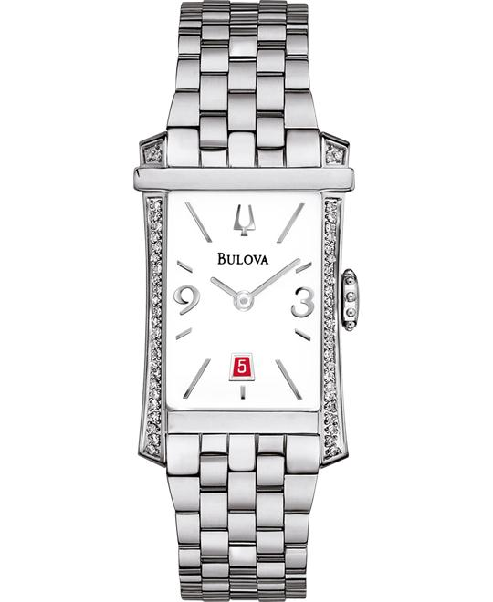 Bulova Winslow Large Rectangle Diamond Watch 20mm