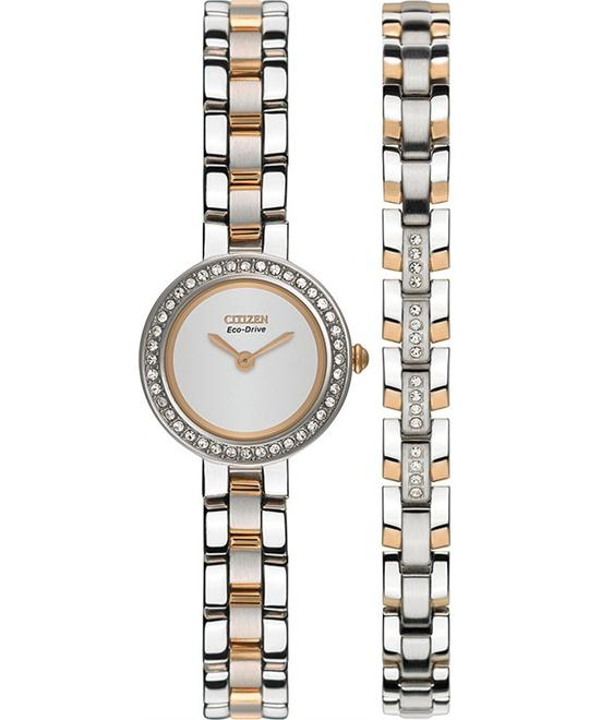 Citizen Eco-Drive Ladies watch & bracelet set 21mm