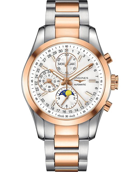 LONGINES l2.798.5.72.7 Classic Conquest Chronograph Watch 42mm