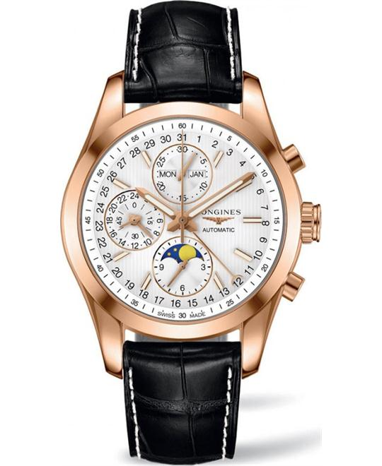 Longines L2.798.8.72.3 Conquest Moonphase Watch 42mm