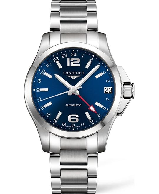 LONGINES Conquest L3.687.4.99.6 GMT Watch 41mm