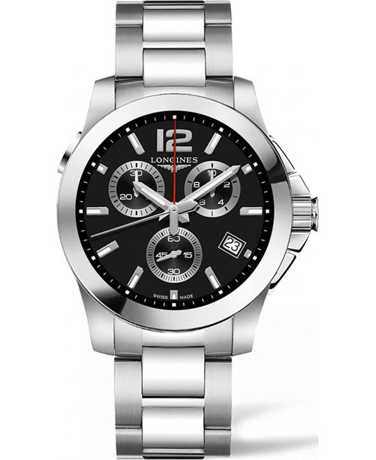 Longines Conquest L3.702.4.56.6 Chrono Watch 41mm