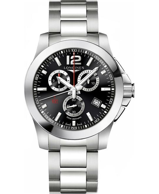 LONGINES Conquest L3.800.4.56.6 Chronograph Watch 44mm