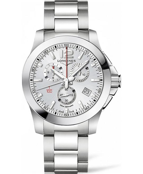 LONGINES Conquest L3.800.4.76.6 Chronograph Watch 44mm