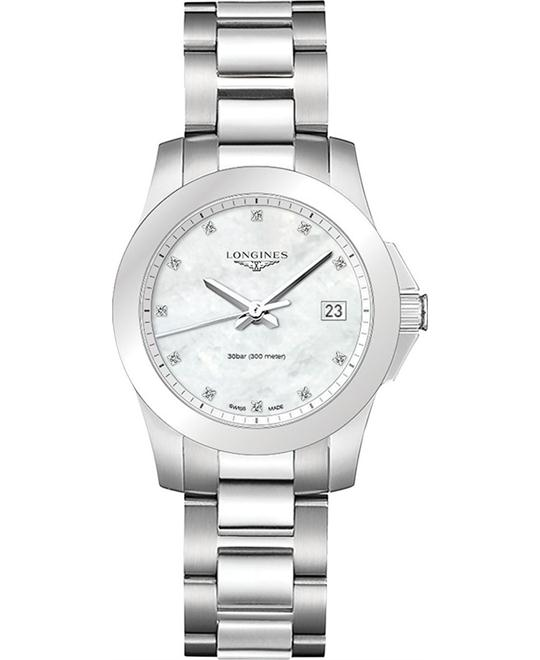 LONGINES CONQUEST L33774876 DIAMOND Watch 34MM