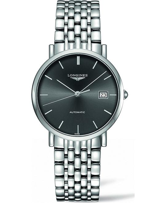 LONGINES L4.810.4.72.6 Elegance Automatic Watch 37mm
