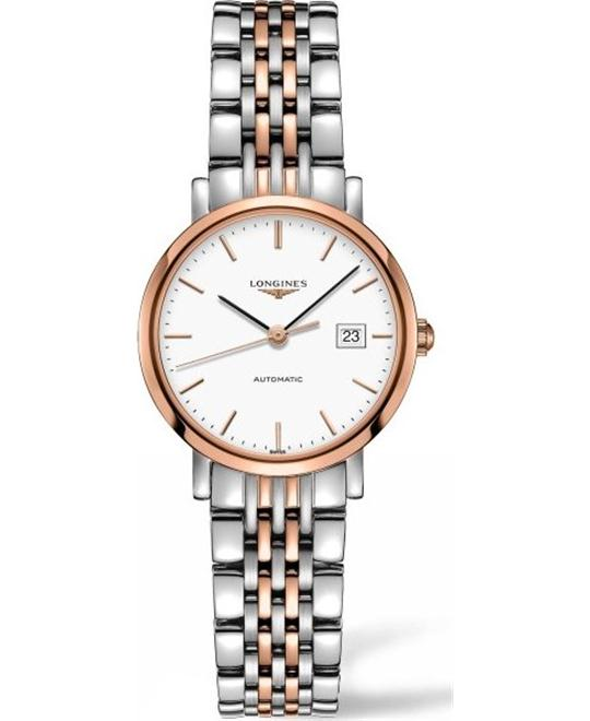 LONGINES Elegant L4.310.5.12.7 18K Rose Watch 29mm